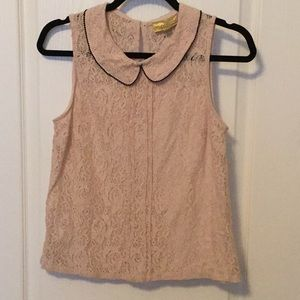 Vera Wang Princess Blush Lace Blouse